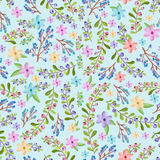 Twigs and floral pattern Royalty Free Stock Images