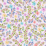 Twigs and floral pattern Royalty Free Stock Photo
