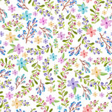 Twigs and floral pattern Stock Images