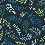 Twigs and leaves seamless pattern Stock Photos