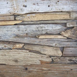 Twigs and wood pieces polished by the sea Stock Photos