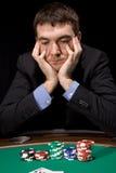 Twijfel in het casino Stock Foto's