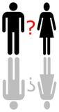 Twijfel in liefde vector illustratie