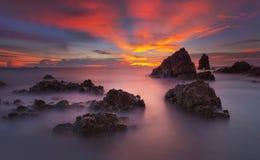 Twilght sea at Laemchabang. Twilight sea at Laemchabang Chonburi royalty free stock images