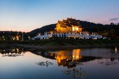 Twilight висок северный Таиланд luang kham wat Ho Стоковые Фото