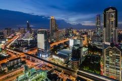Twilight время в Бангкоке Стоковые Фото