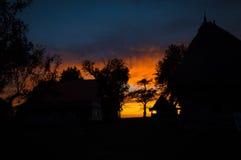 Twilight заход солнца Стоковые Изображения RF