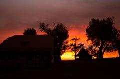 Twilight заход солнца Стоковая Фотография