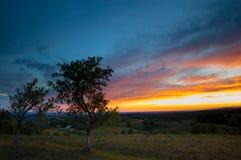 Twilight заход солнца Стоковые Фото