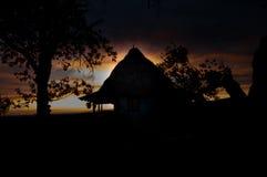 Twilight заход солнца Стоковая Фотография RF