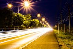 Twilight изображение шоссе Стоковые Изображения