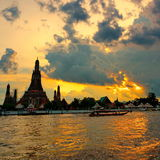 Twilight пагода Стоковое Фото