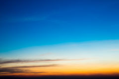 Twilight предпосылка неба стоковые изображения rf