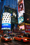 Twilight- центр города Манхаттан Нью-Йорк Стоковое Фото