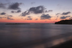 Twilight. A long expousure photo of a sunset at sea Stock Photos