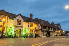 Сцена города Стратфорда под twilight небом стоковые изображения