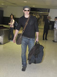 Twilight actor Kellan Lutz at LAX airport. Royalty Free Stock Photo