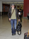 Twilight actor Kellan Lutz at LAX airport Stock Image