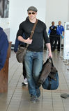Twilight actor Kellan Lutz at LAX airport Royalty Free Stock Images