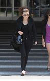Twilight actress Christian Serratos at LAX stock photography
