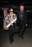 Twilight actress Nikki Reed at LAX with husband Stock Photography