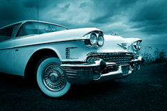 Twilight american cadillac Royalty Free Stock Image