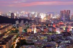 Twilight of amoy city. Sunset glow over downtown, amoy city, china Royalty Free Stock Photos