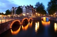 Twilight Amsterdam stock photography