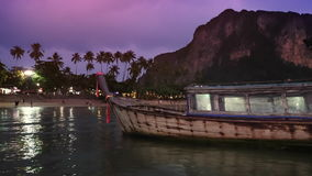 Twilight at ao nang beach ,Krabi Thailand. stock video footage