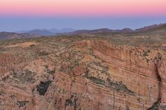 Twilight Apache Trail Tonto National Forest Stock Image