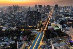 Twilight on Bangkok city Stock Photo