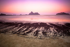 Twilight Beach. The beach at twilight time Royalty Free Stock Images