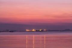 Twilight at beach Royalty Free Stock Photo
