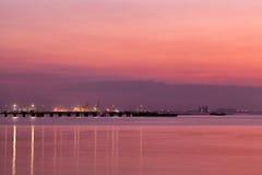 Twilight at beach Stock Photos