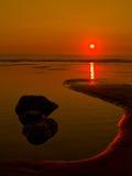 Twilight at the Beach. Seaside beach on the Oregon Coast at twilight Royalty Free Stock Image
