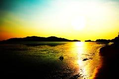 Twilight on the beach Stock Image