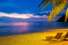 Twilight Beach Royalty Free Stock Photography