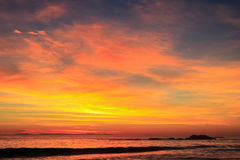 Twilight at the beach Royalty Free Stock Photos