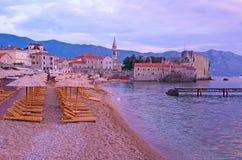 The twilight beach Stock Photography