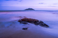 Twilight beach Stock Image