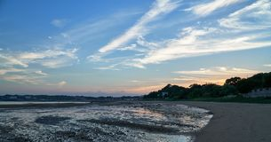 Twilight in the beach Stock Photography