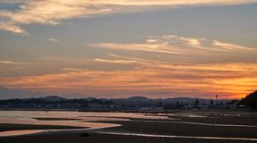 Twilight in the beach Stock Image
