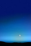Twilight Blue Sky Background Stock Image