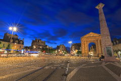 Twilight at Bordeaux Royalty Free Stock Photography