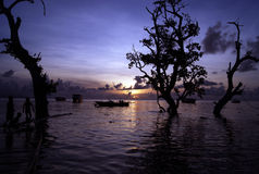 Twilight In Bunaken Stock Photo