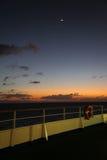 Twilight at Caribbean Sea Royalty Free Stock Image