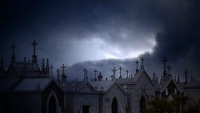 Twilight cemetery Stock Photography