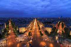 Twilight Champs-Elysees Royalty Free Stock Image
