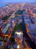 Twilight Chicago Scene Royalty Free Stock Images