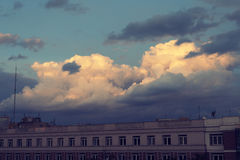 Twilight city clouds Royalty Free Stock Photography